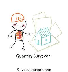 Quantity Surveyor design house on paper