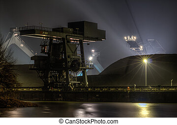 Coal Dump - The picture shows the coal dump of a coal power...