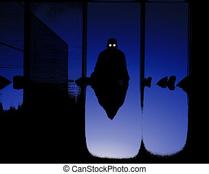 Sinister Business Man - A sinister silhouetted business man...