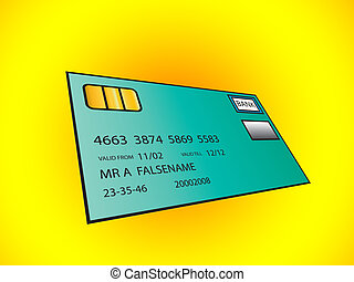 Bank Card for banking concepts.