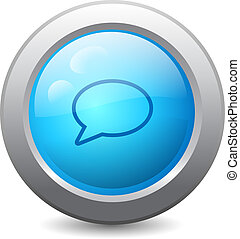 Speech bubble web button