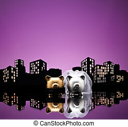 Metropolis City pig wedding