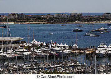 Cannes, panorama view, France