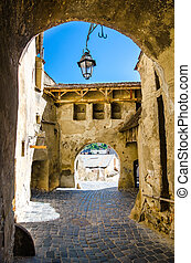 Old entrance into the citadel of Sighisoara