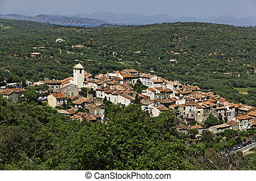 Mountain village Ramatuelle, France - Mountain village of...