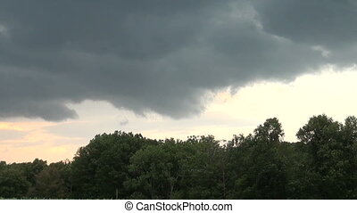 Thunderstorm time lapse