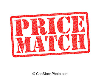 PRICE MATCH Rubber Stamp over a white background