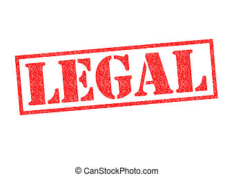 LEGAL Rubber Stamp over a white background.