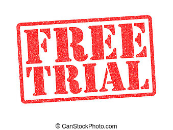 FREE TRIAL Rubber Stamp over a white background.
