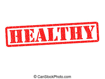 HEALTHY Rubber Stamp over a white background.