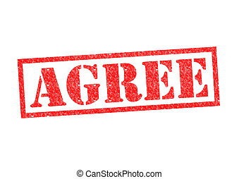 AGREE Rubber Stamp over a white background.