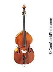 cello on a white background