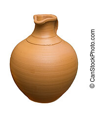 pottery on a white background
