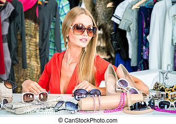 modern, sonnenbrille