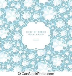 Shiny diamonds frame seamless pattern background - Vector...