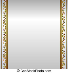 silver background with golden ornaments
