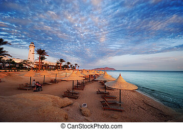 sharm el sheikh - beautiful beach and ocean in sharm el...