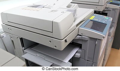 office man using paper copy machine