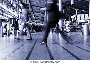 traveling at the airport - people traveling at the airport (...