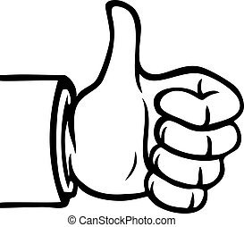 Black and white thumbs up - Black and white hand showing a...