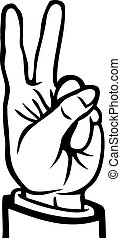 Black and white peace sign