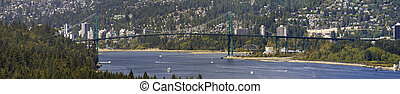 Lions Gate Bridge Vancouver BC - Lions Gate Bridge Over...