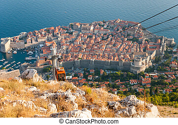 View of Dubrovnik from Srd mountain - Beautiful view of...
