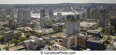 Vancouver BC Downtown with Cambie Bridge