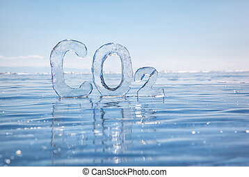 helado, químico, fórmula, carbón,...