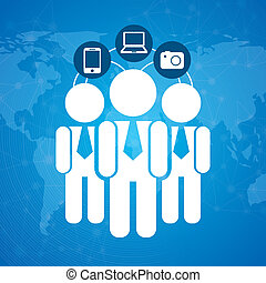 human resources over blue background vector illustration