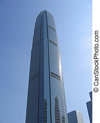 Architecture IFC building, located in Hong Kong
