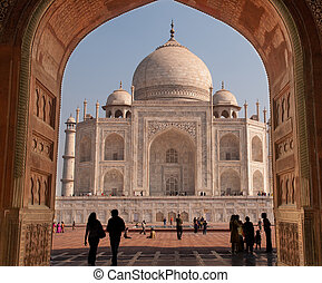 Taj Mahal - A masterpiece from the 16th century built by the...
