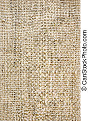 Old-fashioned rustic homespun cloth as background - White...