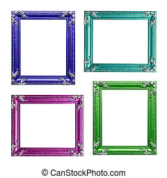 Four contemporary picture frames in high resolution vibrant...