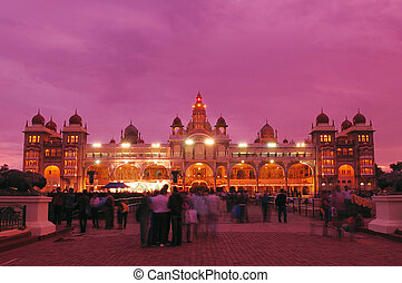 Mysore Palace - Mysore palace at full lights during Dussera...