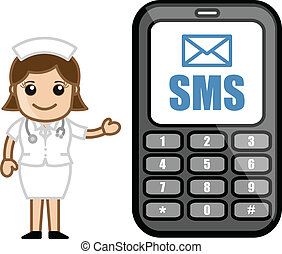 SMS Service - Cartoon Nurse
