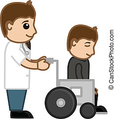 Doctor with Patient on Wheelchair