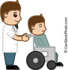 Doctor and Patient - Medical Vector