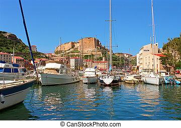Bonifacio Corsica - Old town Bonifacio south Corsica island