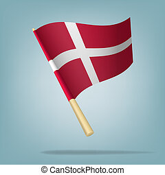 Denmark flag, vector illustration - Vector illustration...