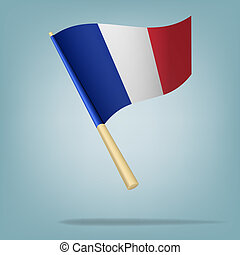 Flag of France. vector illustration - Vector illustration...