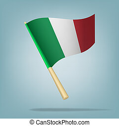 italian flag, vector illustration - Vector illustration...