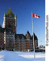Chateau Frontenac - Quebec City most famous landmark,...