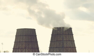 cooling towers of an energy station