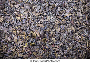 Green tea background - The background and texture of dry...
