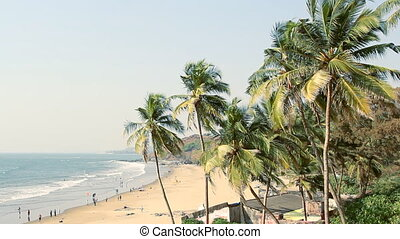 Seaside panorama view - India Goa Vagator beach February 20,...