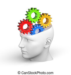 Creative concept of the human brain - Thinking