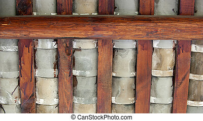 tile and roof beam