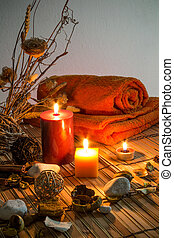 dried flowers,candles ,chromoterapy - dried flowers, candles...
