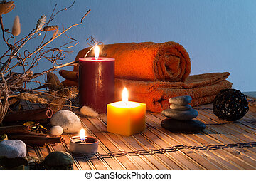 dried flowers, candles - orizzontal - dried flowers, candles...